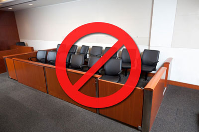 image of court room jury box