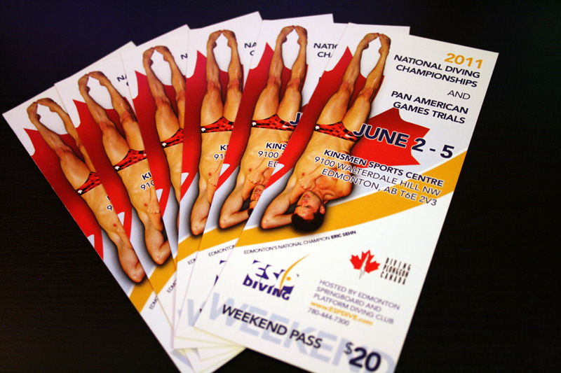 2011 National Diving Championship Ticket Passes