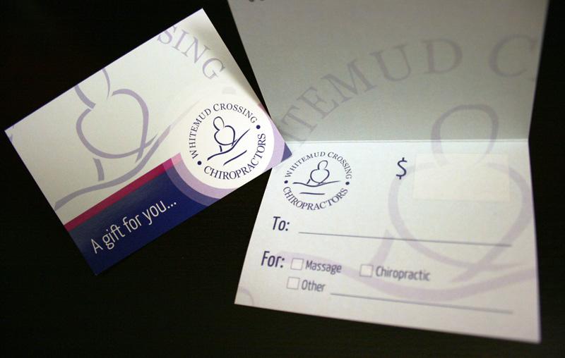 Whitemud Crossing Chiropractors - Gift Card Design - Inside